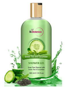 St.Botanica Refreshing Green Tea and Cucumber Shower Gel - Rich, Luxury Bath Shower With Pure Oils - 300 ml at rs.349