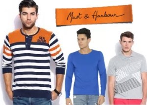 Mast & Harbour T-Shirts Starts at Rs.179 + 25% Cashback – Shop Online at Flipkart.com