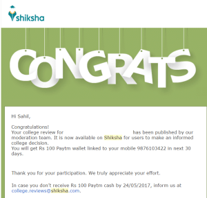 shiksha review approved