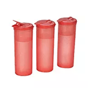 All Time Plastics Freeze Bottle Set, 1 Litre, Set of 3, Red