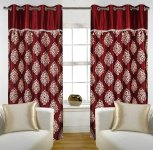 Amazon- Buy Home Candy Eyelet Fancy Polyester 2 Piece Door Curtain Set