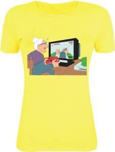 Gabi Printed Women's Round Neck Yellow T-Shirt for Rs 79