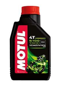 Motul 104062 5100 4T Hybrid 10W-30 API SM Technosynthese Petrol Engine Oil for Bikes (1 L) at rs.361