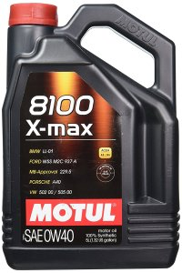 Motul 8100 X-max 0W40 API SN Fully Synthetic Gasoline and Diesel Engine Oil (4000 ml)