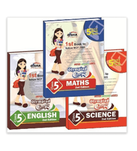 Olympiad Champs Science, Mathematics, English Class 5 with 15 Mock Online Olympiad Tests (Set of 3 Book) Paperback – 2015 at rs.243