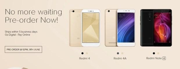 Redmi 4, Redmi 4A, Redmi Note 4