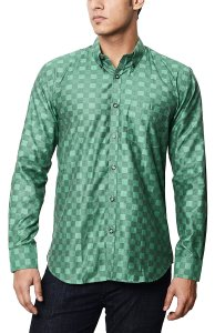 Amazon- Buy VIBINVEGAS Men's Checkered Casual Green Shirt for Rs 199