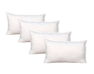 Warmland 4 Piece Microfibre Pillow Set - 17x27, White at rs.599