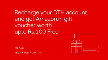 airtel recharge dth and get amazon voucher upto Rs.100
