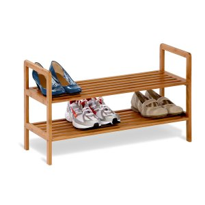 Amazon- Buy Honey-Can-Do 2-Tier Bamboo Shoe Shelf (Bamboo) for Rs 1089 only