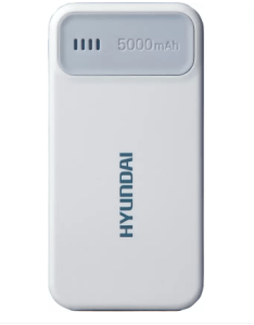 Hyundai MPB 50W Ultra Slim Portable 5000 mAh Power Bank (White, Lithium Polymer) at rs.449