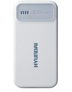 Hyundai MPB 50W Ultra Slim Portable 5000 mAh Power Bank (White, Lithium Polymer) at rs.449