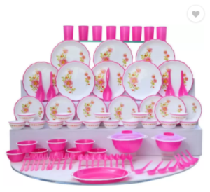 Flipkart – JOYO Designer Microwave Pack of 84 Dinner Set at Rs 1759 only
