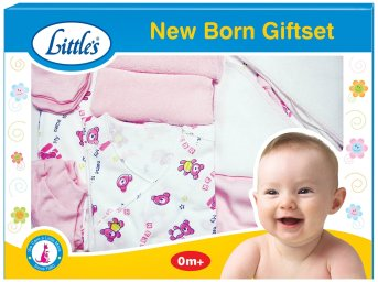 Little's New born Giftset (Pink and white) for Rs 390