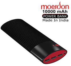 MOERDON 10000mAH Power Bank (Black&Red)