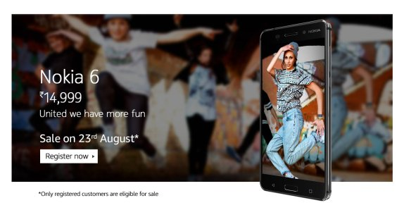 Amazon- Buy Nokia 6 for Rs 14999 | Nokia Era is Back.???