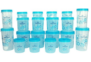 Amazon – Buy Princeware Twister Combo Plastic Package Container Set, 20-Pieces, Blue at Rs.401 only