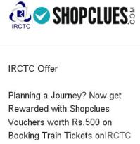Shopclues HDFC Offer- Book your Train Tickets at IRCTC with HDFC Bank Debit Cards & get Shopclues Voucher worth Rs 500