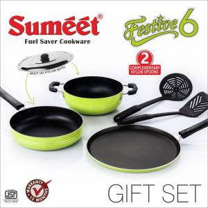 Sumeet Nonstick Festive Six Cookware Set (Aluminium, 6 - Piece) at Rs 797 only pepperfry