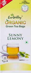 Amazon- Buy Eco Valley Organic Green Tea, Sunny Lemony, 50 Tea Bags for Rs 125