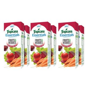 Tropicana Essentials Fruits & Veggies Juice 200ml each (Pack of 6) for Rs 126
