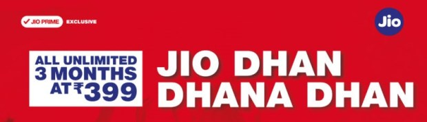 JIO New Plans , Unlimited at Rs 399 for 84 Days