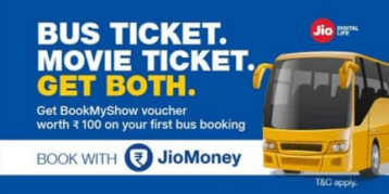 jiomoney bms rs.100 voucher on booking bus ticket