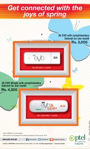 PTCL 3G EVO Wingle & 3.1 New Packages 2014