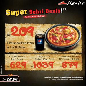 Pizza Hut Sehri Deals 2015