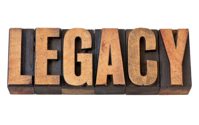 legacy - isolated word in vintage letterpress wood type