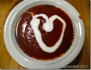Super simpele Roze Valentijn soep