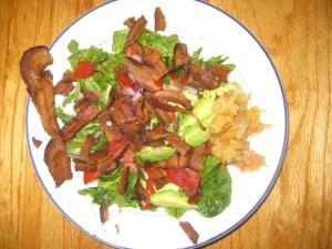 Bacon Salad with Kimchi