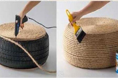 fabriquer un coussin de sol en corde