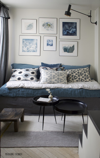 Lambris bois blanc inviter le style campagne chic la maison style chalets and murals for Deco slaapkamer chalet