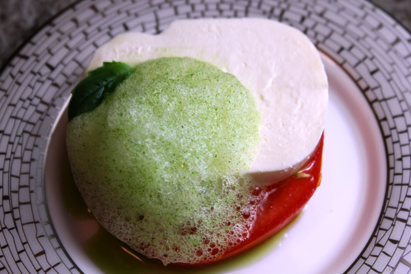 Caprese Salad with Basil Foam 2