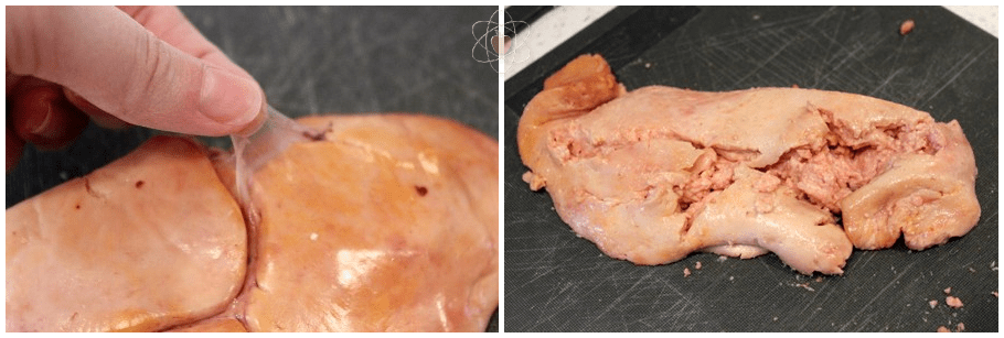 Cleaning monkfish liver WM