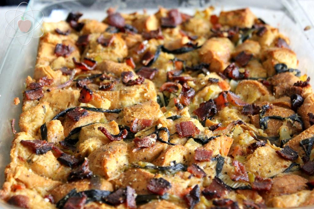 Savory Bread Pudding, Baked WM
