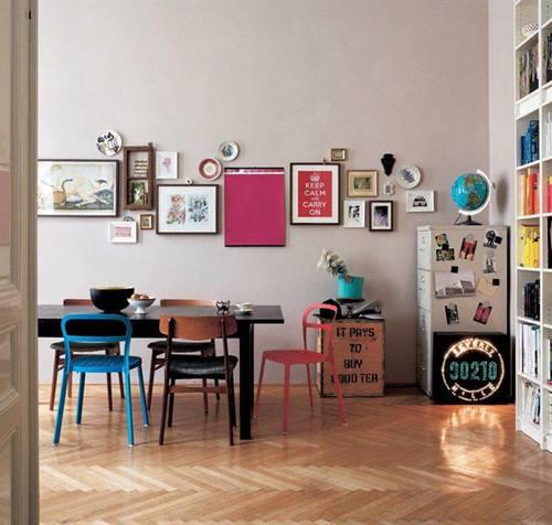 Colocar cuadros para decorar paredes de forma original - Donde decorar fotos ...
