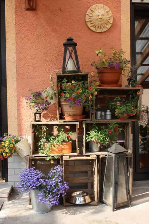 Ideas de decoracion con cajas de madera para fruta for Adornos de madera para pared