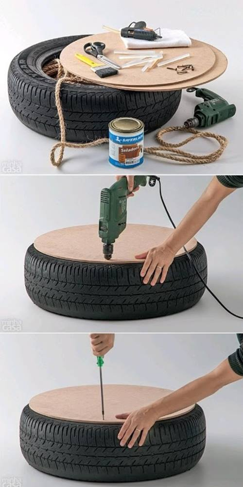 ☼ Qué hacer con un viejo neumático ¡ideas para reciclar decorando! ☼ 1