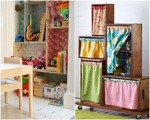 Decorar cajas de madera para habitaciones infantiles - Decorar cajas de fruta de madera ...