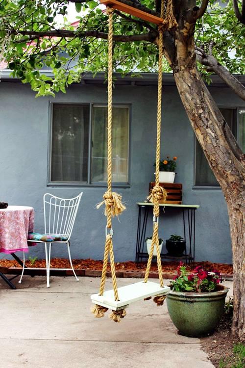 Columpio en casa para decorar y disfrutar decomanitas - Hacer un columpio ...