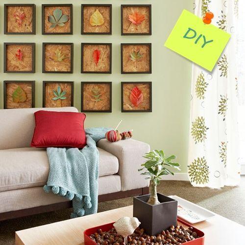 Hacer cuadros decorativos con hojas secas decomanitas for Decoracion con hojas secas