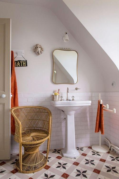 Baño Pequeno Vintage: de cuartos de baño pequeños con ideas vintage