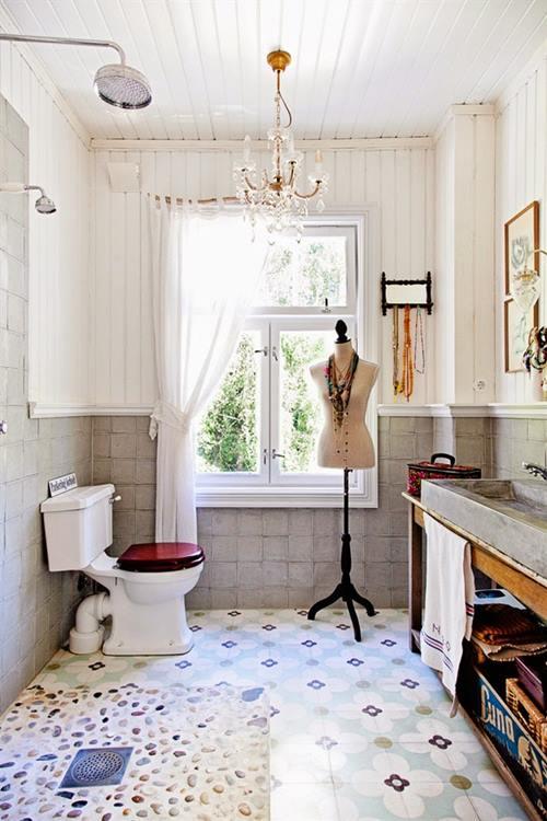 Baños Rusticos Con Encanto:Casas con encanto: decoración vintage con un punto bohemio