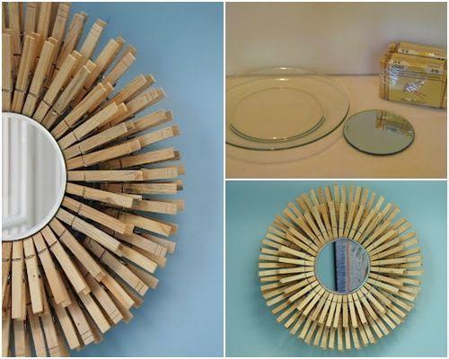 10 manualidades con pinzas de madera para decorar tu casa - Trabajos para hacer desde casa manualidades ...
