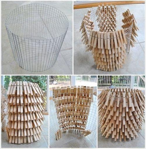 10 manualidades con pinzas de madera para decorar tu casa for Manualidades para decorar espejos