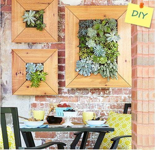 Decorar terraza peque a jardin vertical de crasas for Decorar terrazas barato