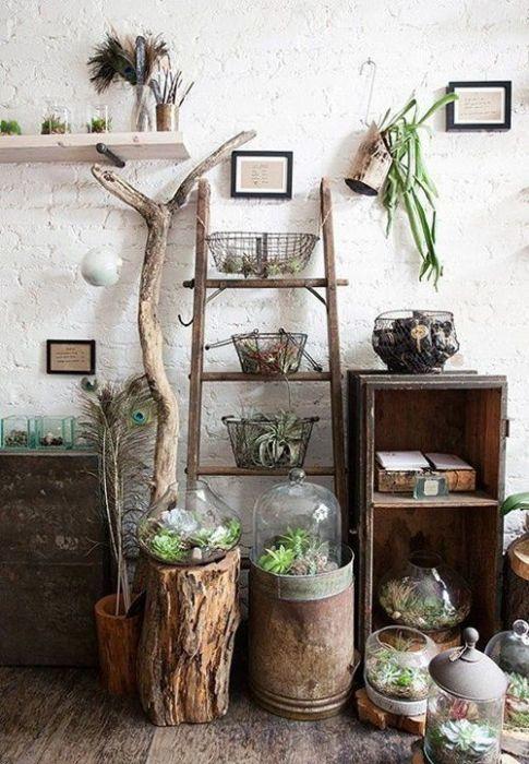 Los 25 rincones con plantas de interior m s bellos de pinterest decomanitas for Deco oude huis