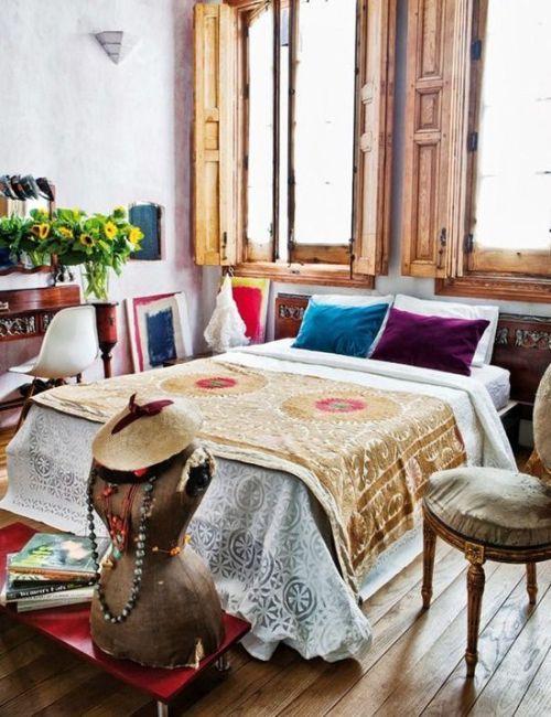 Los 25 dormitorios de estilo boho chic m s bellos de for Dormitorio boho